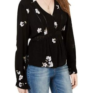 American rag boho blouse with embroidered detail